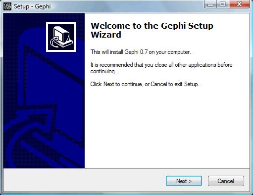 Installing Gephi